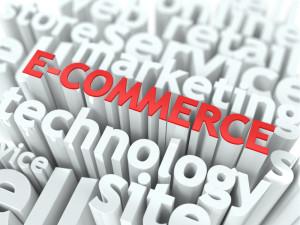 E-Commerce. The Wordcloud Business Concept.