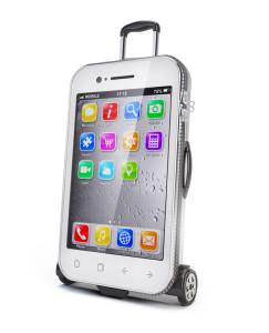 Smartphone - luggage suitcase concept