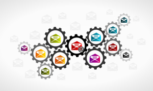 Emailing concept illustration