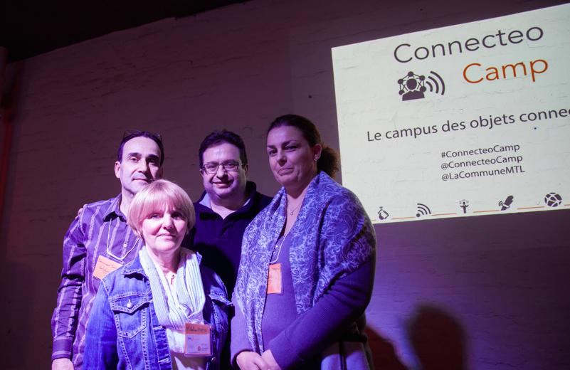 les fondateurs du ConnecteoCamp, Dominique Gatto, Micheline Fortin, Philippe Nieuwbourg et Christine Gautheron