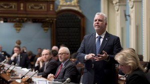 Quebec Premier Philippe Couillard during question period Friday, December 5, 2014 at the legislature in Quebec City. THE CANADIAN PRESS/Jacques Boissinot