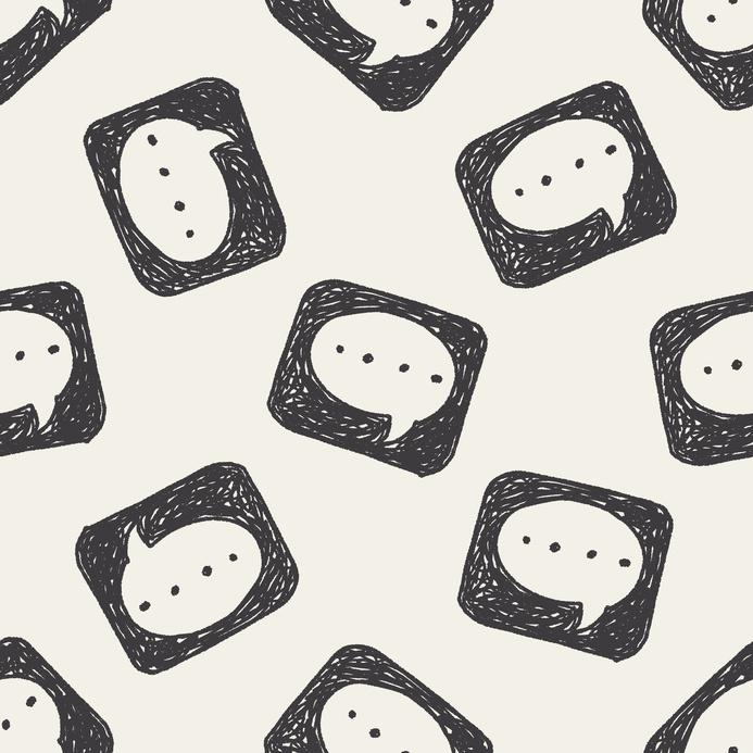 doodle speech seamless pattern background