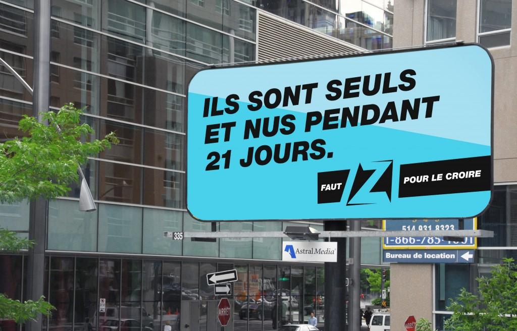Z télé - Panneau nus pendant 21 jours