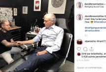 Pierre Bruneau se fait tatouer pour la Fondation Charles-Bruneau