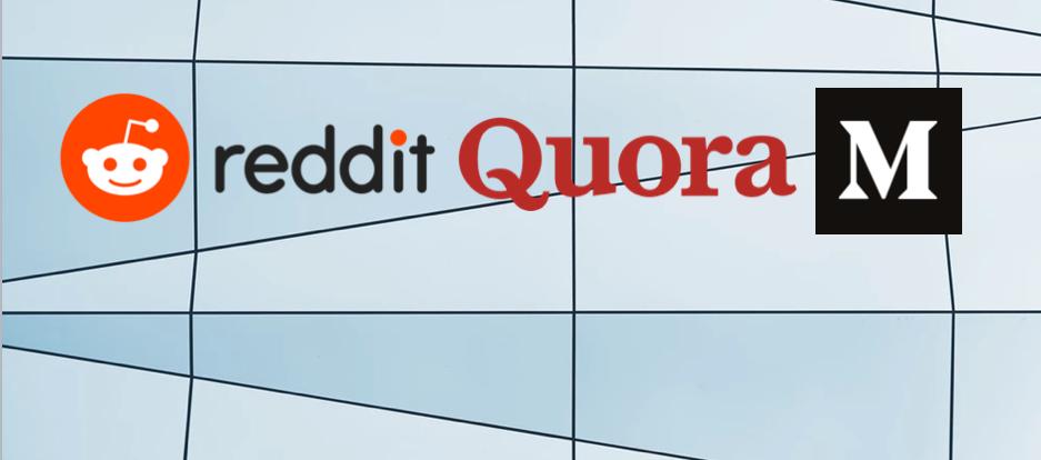 Reddit, Medium et Quora: les 3 reines du contenu écrit, encore sous