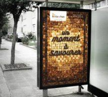 Triade Marketing produit une affiche… comestible pour la Boîte à pain
