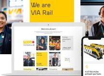 Tink réalise le nouveau visuel et le nouveau positionnement pour le site corporatif de VIA Rail