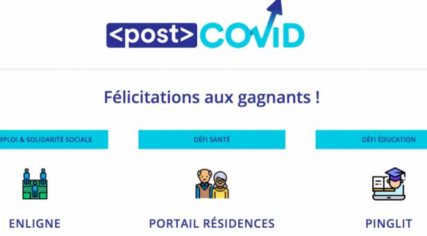 Les 3 gagnants du Défi <post>COVID de Bonjour Startup Montréal, Desjardins et Google Canada dévoilés