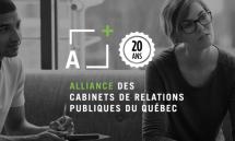L'Alliance des cabinets de relations publiques du Québec offre du soutien de communication pro bono aux OBNL et PME