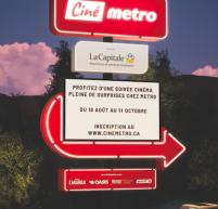 Metro et La Capitale proposent la tournée Ciné Metro jusqu'à l'automne