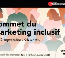 Marketing Québec organise le Sommet du marketing inclusif le 22 septembre prochain