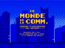 Le monde de la comm., une série de conférence pour faire découvrir les métiers de l'industrie aux étudiants