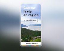 Une deuxième campagne pour Emplois en régions signée Hamak Marketing Numérique