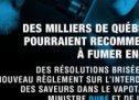 La Coalition des droits des vapoteurs du Québec lance une nouvelle campagne publicitaire