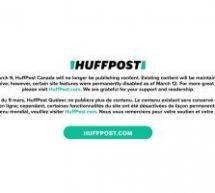 Fil de presse : La fin du HuffPost Québec et Canada et Rogers met la main sur Shaw Communications