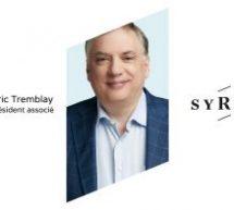 Frédéric Tremblay devient vice-président associé de SYRUS